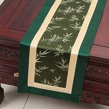Hochwertiger Tischlaufer Grune Bambus Blatter Einfache Pastoralen