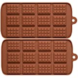 2 Pack X Thin Mini Waffle Mold Chocolate DIY Tray Mould Silicone Party Maker (Ships from USA)