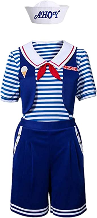 GEGEXIAOWU Stranger Things Robin Scoops Ahoy - Disfraz para Mujer ...