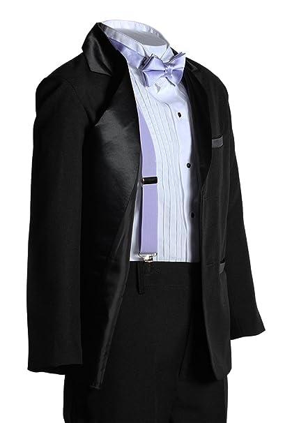 Amazon.com: Kids Dos botón muesca Tuxedo con lavanda ...