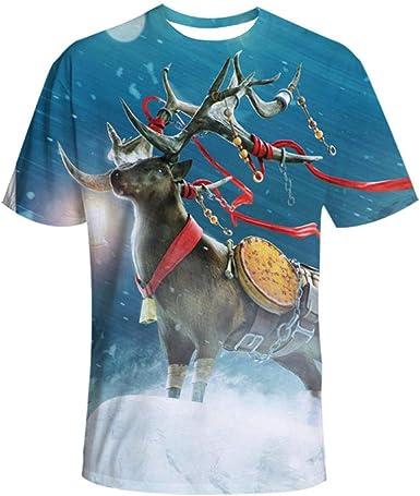 Ciervos con Estampado navideño Camisa de Pareja con Estampado ...