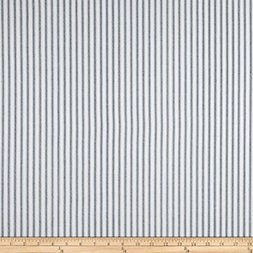 Premier Prints 0432764 Classic Ticking Stripe Premier Navy Fabric by The Yard,