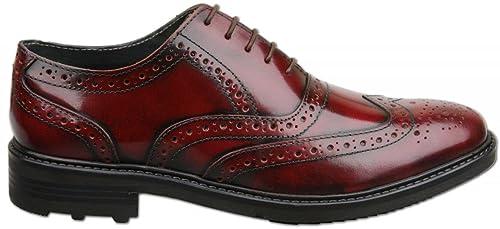 Roamer Para Cordones Zapatos De Piel Rojo OxbloodColor Hombre FT3Jc1lK