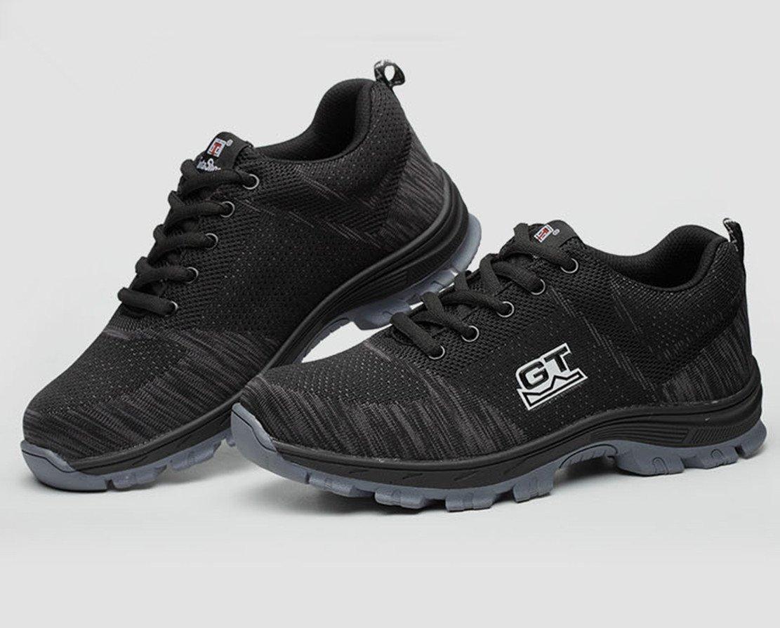 LIDUN Unisex Breathable Steel Toe Shoes Men Steel Toe Boots Womem Steel Toe Sneakers (US Men 9, LD01) by LIDUN (Image #4)
