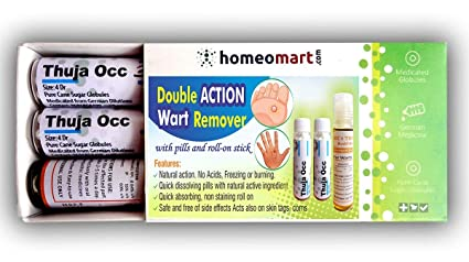 homeomart Double Action Wart Remover with Active Thuja Pills and Roll-on