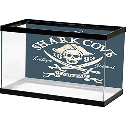 Amazon.com : homecoco Wallpaper Fish Tank Pirate Queen Size ...