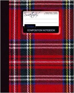 Tartan Composition Notebook: College Ruled Writer's Notebook