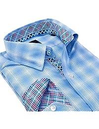TailorByrd French Blue Plaid Boys Long Sleeve Shirt
