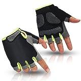 HuwaiH Cycling Gloves Men's/Women's Mountain Bike Gloves Half Finger Biking Gloves   Anti-slip Shock-absorbing Gel Pad Breathable Cycle Gloves