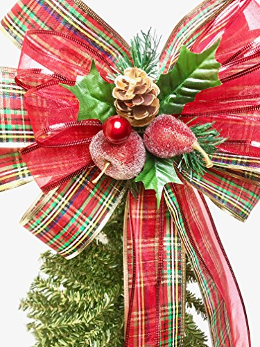 Review Wreath Bow, Tree Topper,