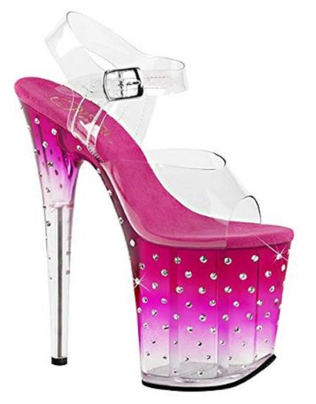 Pleaser STARDUST-808T Exotic Dancer Super High Heels 8