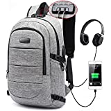 Laptop Backpack, Business Anti Theft Waterproof Travel Backpack with USB Charging Port & Headphone interface for College Student for Women Men,Fits Under 17-Inch Laptop Notebook by AMBOR
