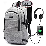 AMBOR Laptop School Backpack USB Charge Port Waterproof Anti-Theft 17in Deal
