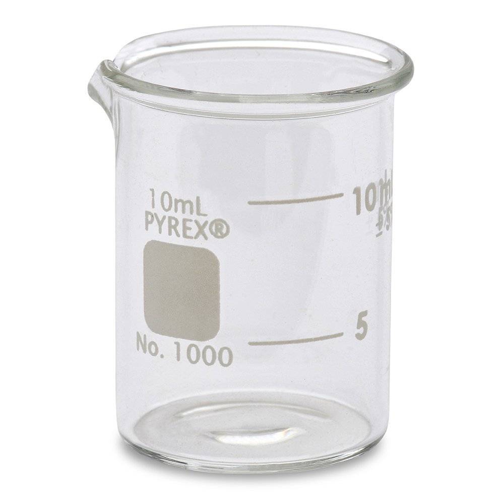 Corning Pyrex® #1000-10 Griffin Low Form, Glass Beaker, 10ml - Single Karter Scientific 205A60
