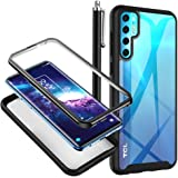 TCL 20 Pro 5G Case, Crystal Clear Full Body Scratch-Resistant Shockproof Bumper Rugged Heavy Duty Hybrid Protective Phone Cov