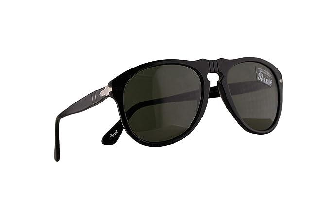 Persol 649 Gafas De Sol Negras Con Lentes Verde Oscuro en ...