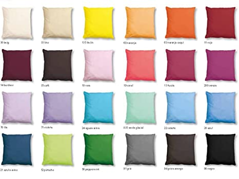 CAÑETE - Cojín Lisa 50x70 cm - Color Burdeos: Amazon.es: Hogar