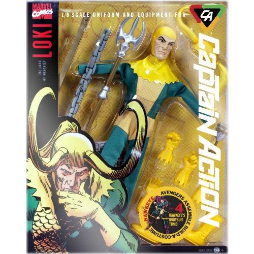 Captain Action Loki Deluxe Costume (Captain Action Costume Set)