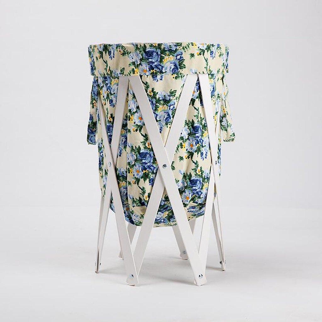 Aufbewahrungstaschen Xuan - Worth Another Blaues Blumenmuster Stoff Weiß Stent Ändern Kleidung Körbe Ablagekorb Tuch Badezimmer mit Wäschekorb Falten Sie den Korb