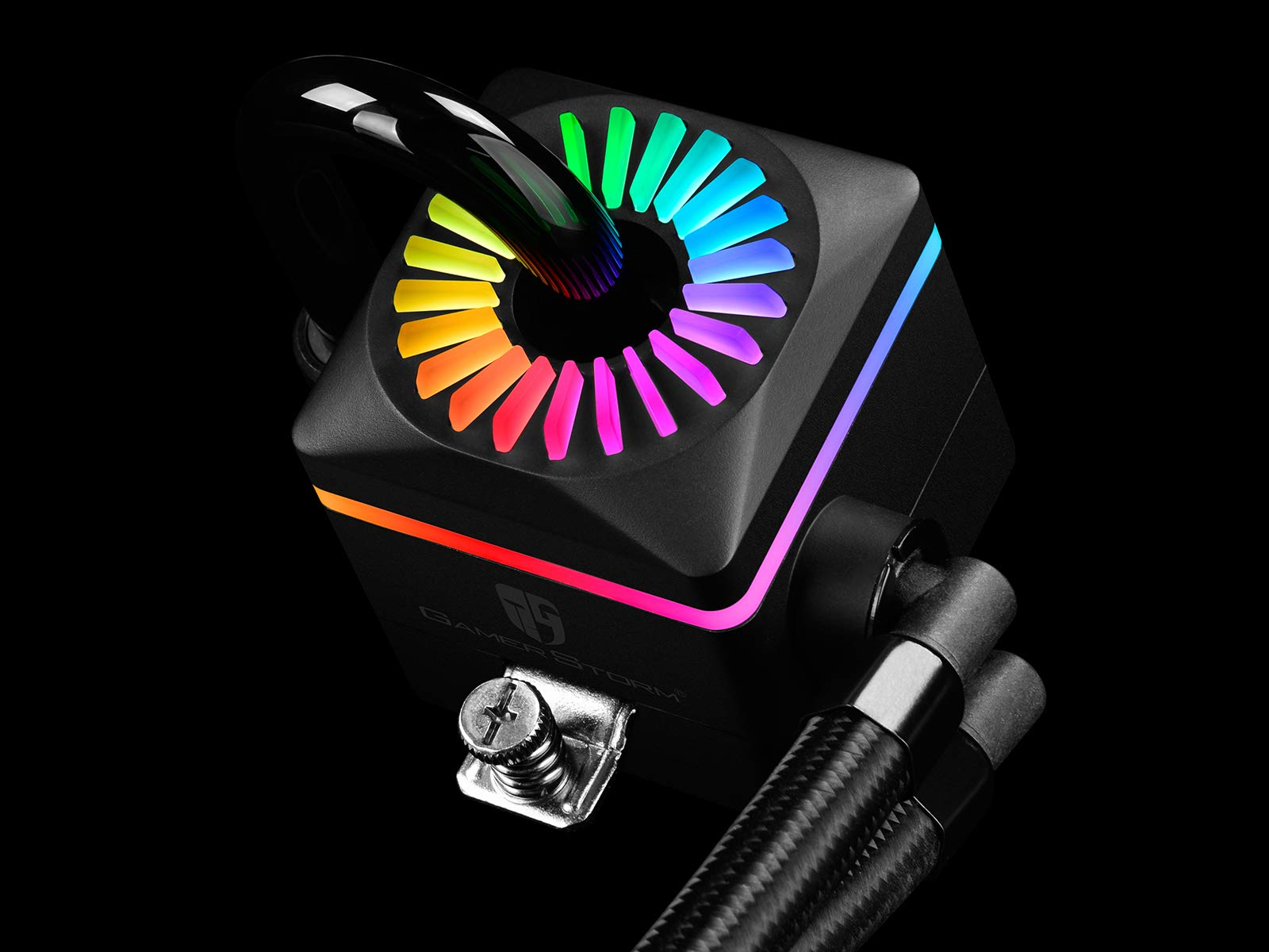 DEEPCOOL Captain 240PRO Addressable RGB AIO CPU Liquid Cooler, Cable Controller and 5V ADD RGB 3-Pin Motherboard Control, Intel 115X/2066 and AMD TR4/AM4 Compatible, 3-Year Warranty by DEEPCOOL (Image #3)