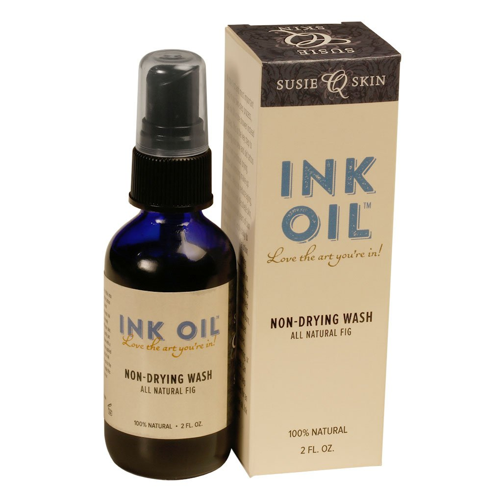 7910ae909 Amazon.com: Tattoo Aftercare Ink Oil Natural Tattoo Wash-Tattoo Oil-100%  Natural-No Lanolin-No Petroleum-Made in the USA-98% Organic-Reduces Shower  ...