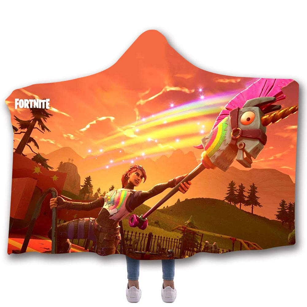 Sport Do 3D Fortnite Hooded Throw Blanket - Soft Warm Wearable Blankets Cape Cloak Throw Wrap Adults (60