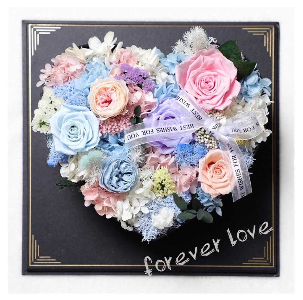 HARDY-YI 永遠の花創造的な愛のギフトボックスの装飾バレンタインギフトの誕生日は永遠の花をバラ - 永遠の花 995 (色 : A) B07R9JJ1HJ A