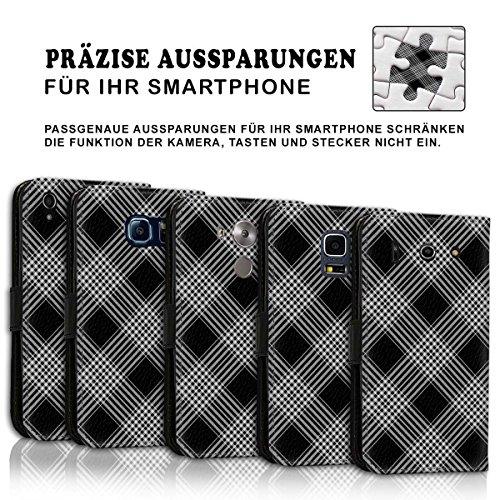 Wallet Book Style Flip Handy Tasche Case Schutz Hülle Schale Motiv Etui für Apple iPhone 5 / 5S - Design Flip MV277