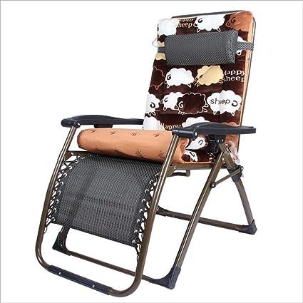 XAIOYAN Sillón plegable moderno sillón de acero inoxidable + ...