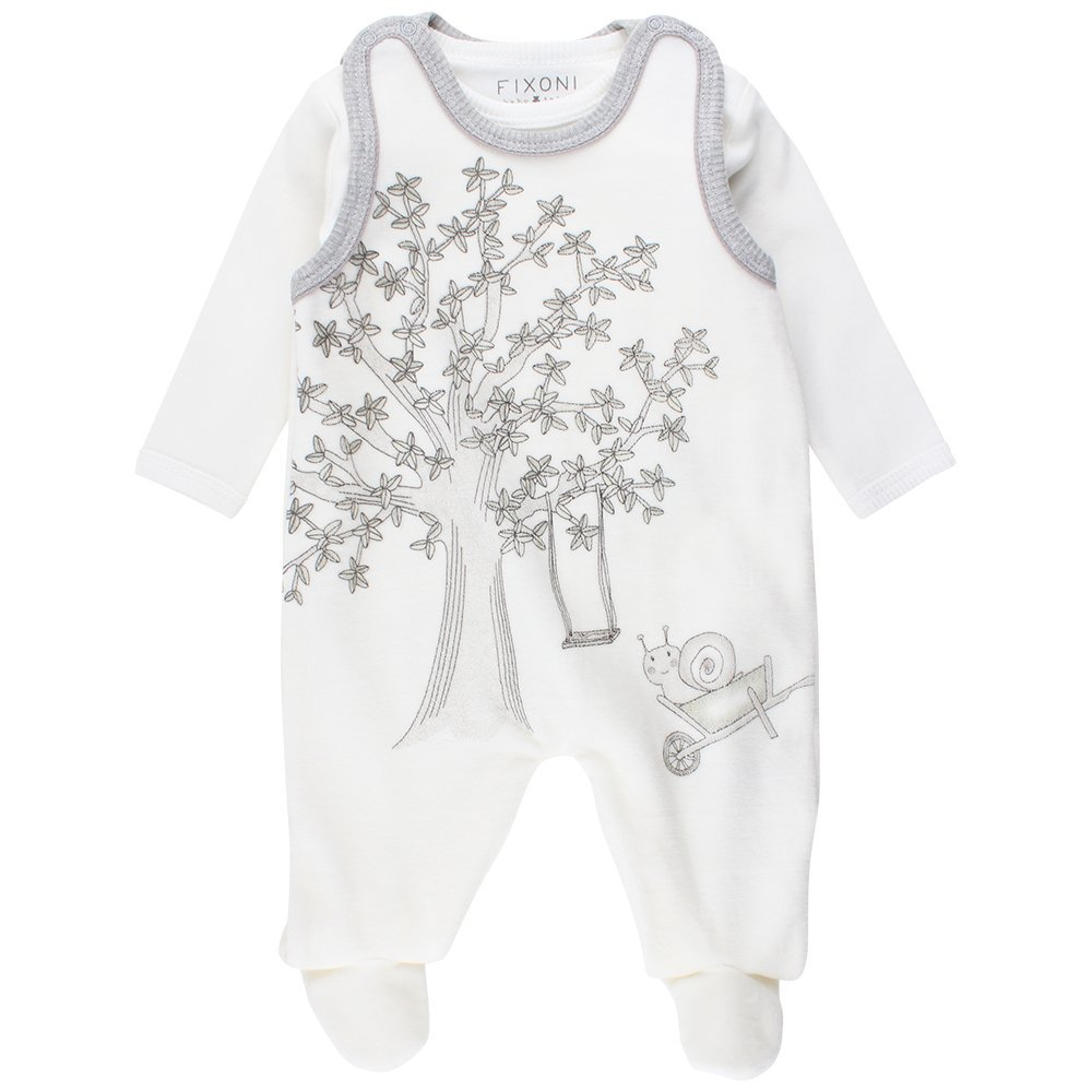 FIXONI Baby Grow Suitset Footies (White 00-31) 62 cm 33116