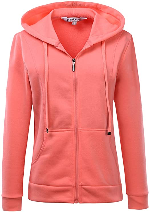 Mrignt Women's Full Zip Fleece Sweatshirt Hooded at Amazon Women's ...
