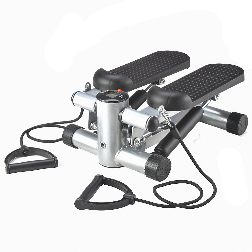 BestMassage Aerobic Fitness Adjustable Twister Stepper with With Rope, Healthy Fitness Mini Stepper Machine