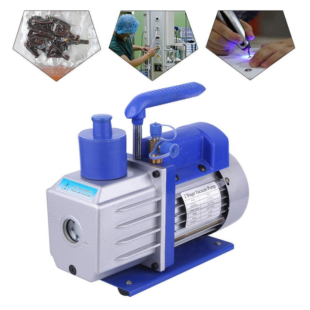 LiFuJunDong Pompe /à Vide en Aluminium 142 L//Min Pompe /à Vide /à 2 /étages climatisation 0.3Pa