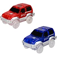 MeterMall Children Electric LED Car for Magic Tracks Shining Racetrack Race Vehicle Toys Gifts for Kids(Not Included Tracks)