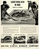 1944 Ad Unites States Rubber Co Logo Soldiers Scale Models WWII Battle Grounds - Original Print Ad