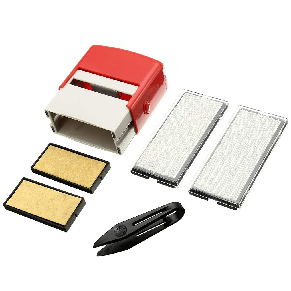 Lorsoul Colore Casuale di plastica Fai da Te Personalizzato inchiostrazione Gomma Kit Stamp Fit Usiness Nome Indirizzo Auto inchiostrazione Timbro di Gomma