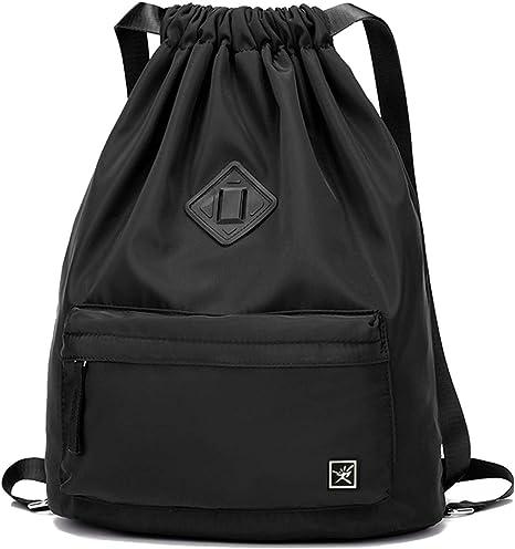 Risefit Drawstring Bags PE Bags Waterproof Gym Sack Daily Rucksack Book Bags with Large Capacity for Sports School Travel Swimming Bags Men, Women