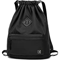 Risefit Drawstring Bags PE Bags, Waterproof Gym Sack Daily Rucksack Book Bags with Large Capacity for Sports School Travel Men, Women and Students
