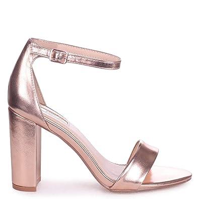 9d7b6be82c6 Nelly - Rose Gold Metallic Single Sole Block Heel  Amazon.co.uk  Shoes    Bags