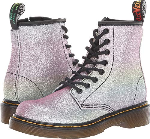 Dr. Martens Girls 1460 Rainbow Glitter J Multi Glitter Boot - 1 UK Kids -