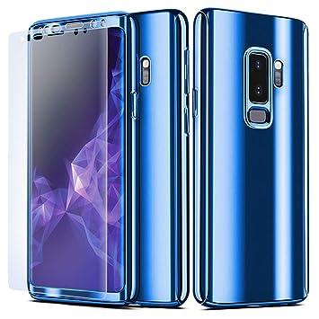 NALIA Funda Integral Compatible con Samsung Galaxy S9 Plus, Carcasa Completa con Screen Protector Ultra-Fina Cubierta Móvil Protectora Cover Delgado ...