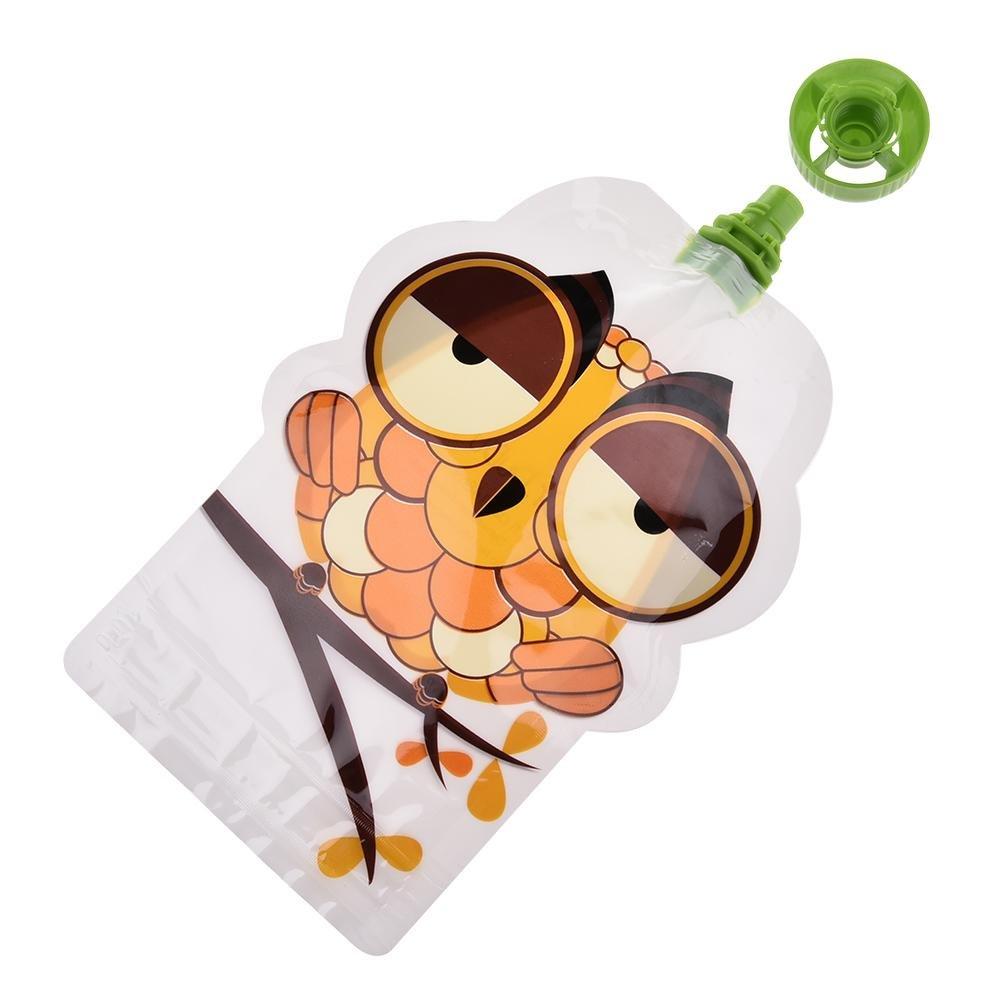 mongrep Satz von 8//8 Stck 150 ml Wiederverwendbare Beutel f/ür Babys BPA-Frei Versiegelter Doppelrei/ßverschluss Quetschbeutel f/ür P/ürierte Organische und Hausgemachte Babynahrung