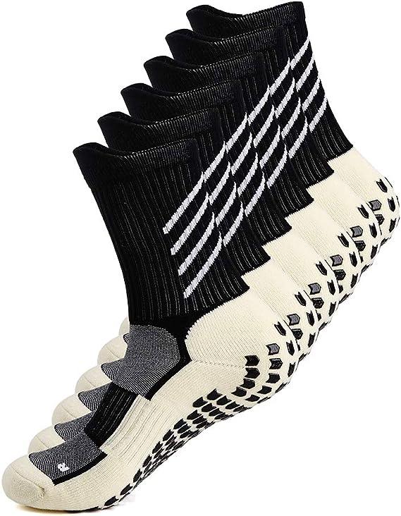 Calcetines antideslizantes unisex, deportivos, algodón suave ...