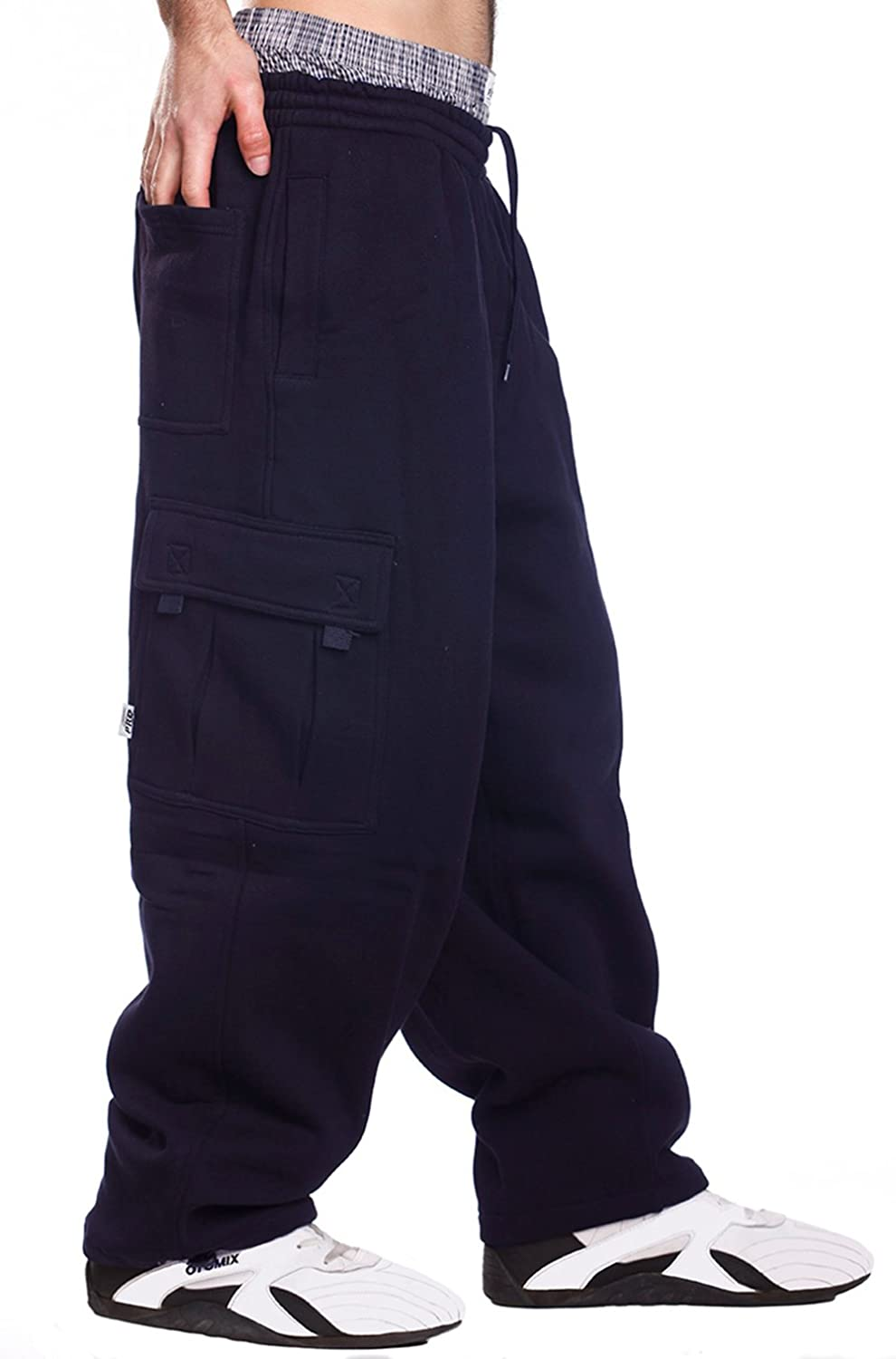 PRO 5 Mens Fleece Cargo Sweatpants