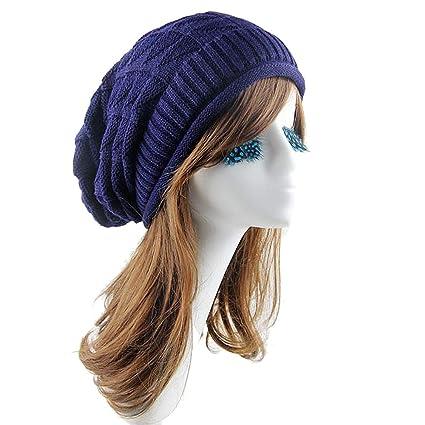 139119b1c346c ACEKB Women Winter Triangle Diamond Hat Fashion 100% Knitted Wool Warm  Super Soft Beanie Snapback
