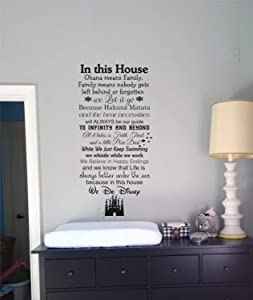 Best Design Amazing in This House We Do Disney Wall Decals-Disney Quotes-Wall Decor-Wall Words-Wall Sayings-Home Decor-Ohana Means Family-Let it Go Made in USA!