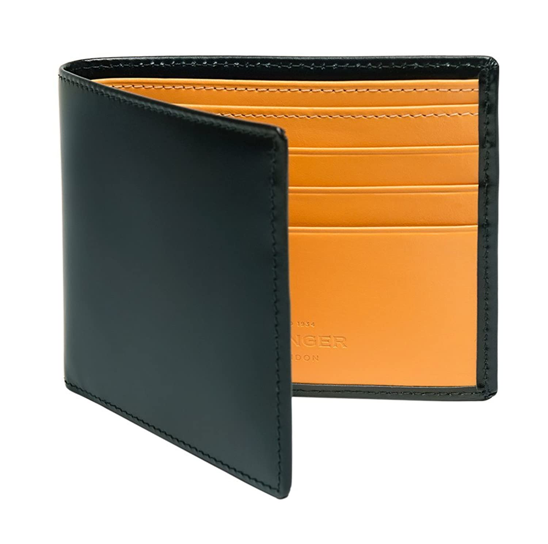 ETTINGER / エッティンガー レザービルフォールド ウォレット 二つ折り財布 - グリーン/ロンドンタン(内側) B00EYI7HLE