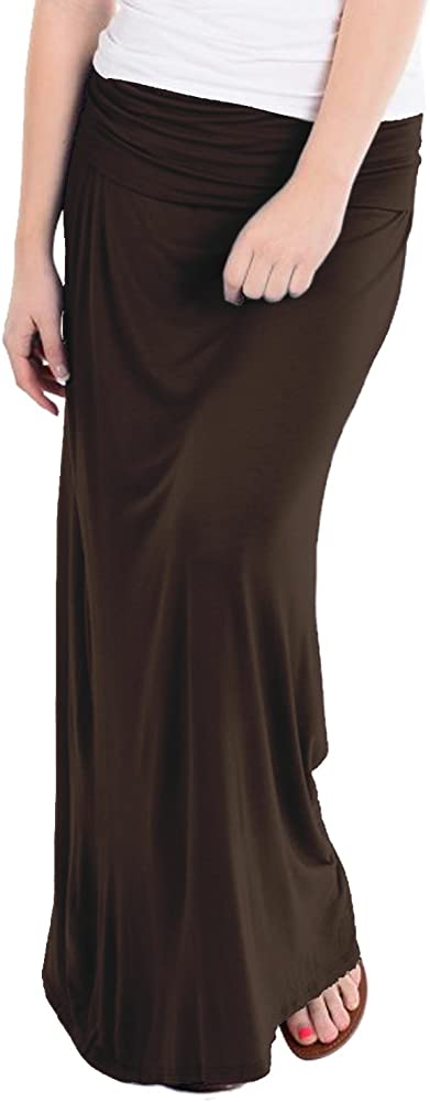 71c9b6efa HyBrid & Company Women's Versatile Maxi Skirt/Convertible KSK3097 Brown  Small