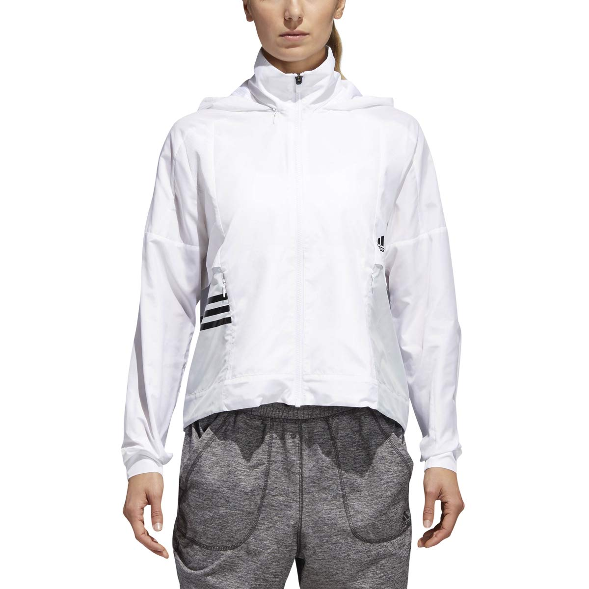 blanc-Clear gris-noir L adidas Athletics ID tissé Coque
