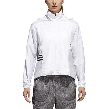524e94ed2748 Amazon.com   adidas ID Shell Jacket - Women s Multi-Sport L White Clear  Grey Black   Sports   Outdoors